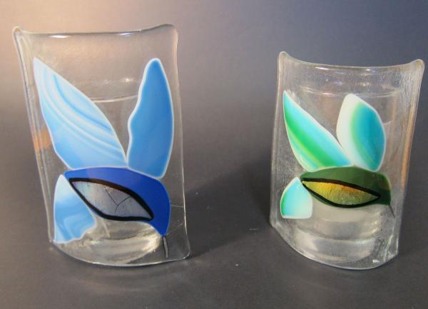 Fused Glass Hummingbird Vase Michaela Davidson Art