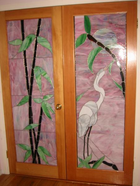 Stained glass double doors michaela davidson art stained glass double doors planetlyrics Gallery
